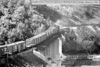 Photo CPR bridge with freight train 1966
